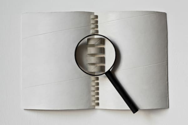 Binder With Magnifying Glass
