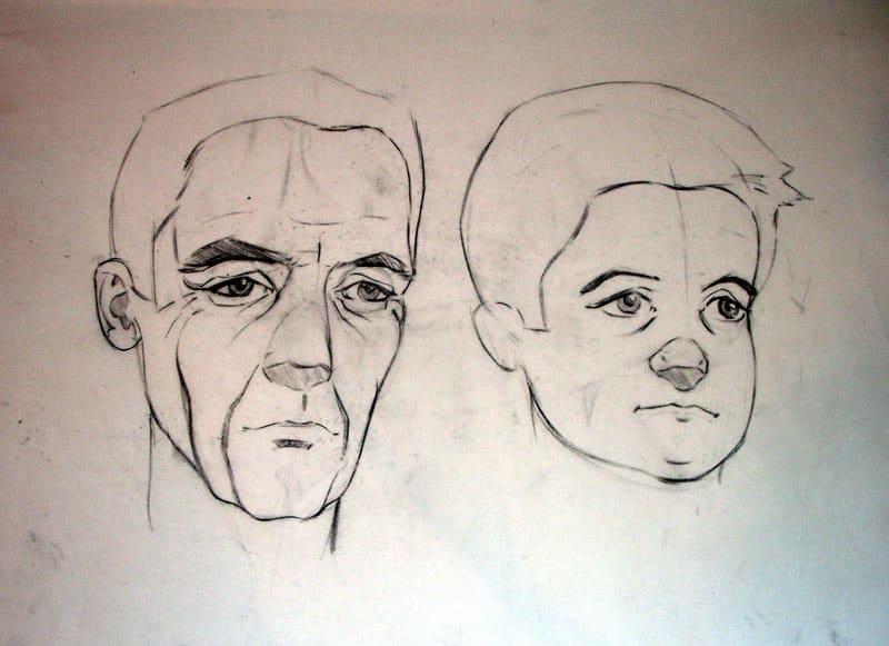 Portrait Study- manipulating age