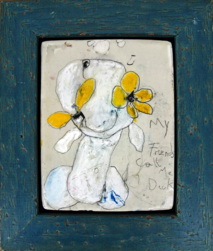 Blackeyed Susan, or my friends call me Dick, by Richard Campiglio, mixed media 5 x7 in framed 2013 (sold)
