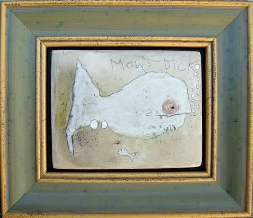 Moby's Dick mixed media on panel 5x6 in 2008 (sold)