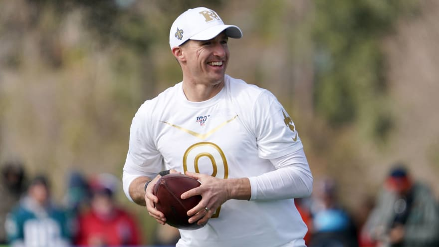At Pro Bowl, QB Drew Brees says he will either stay with the Saints or retire