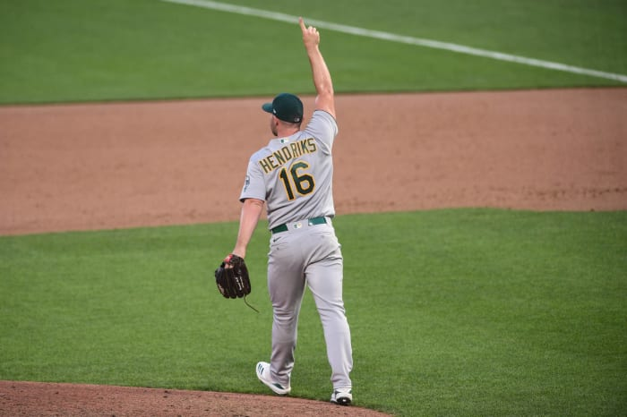 The best closer in baseball is all of the sudden the A's Liam Hendriks