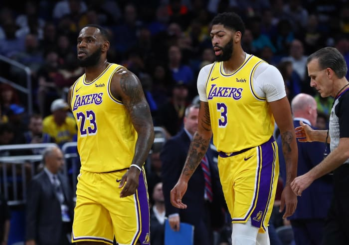 LeBron James and Anthony Davis, Los Angeles Lakers