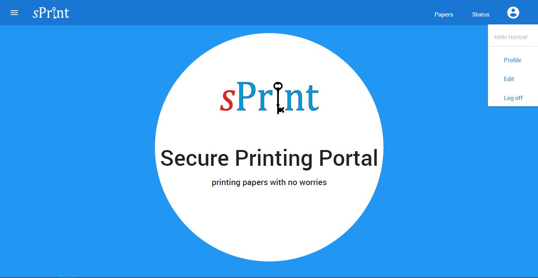 Sprint — Secure Printing