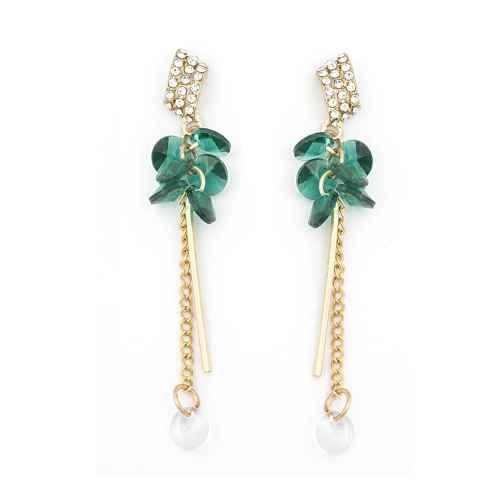 Green Funky Earrings