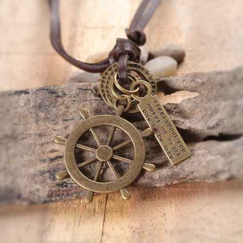 Nautical Wheel Pendant for Men