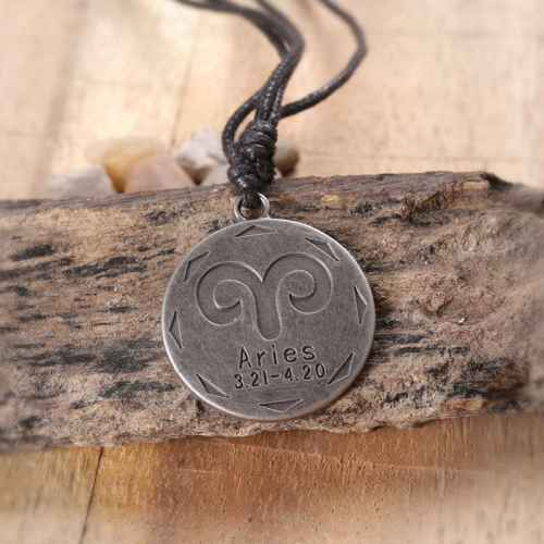 Zodiac Sign 'Aries' Pendant for Men