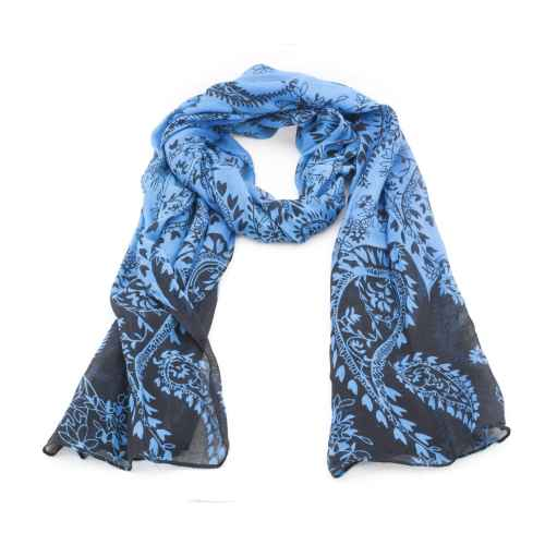 Blue Digital Print Scarf