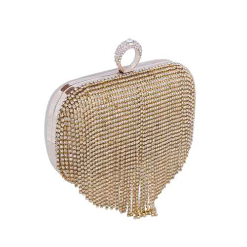 Shimmery Golden Beads Clutch