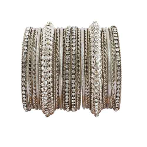 A set of stylish Silver Metal Bangles