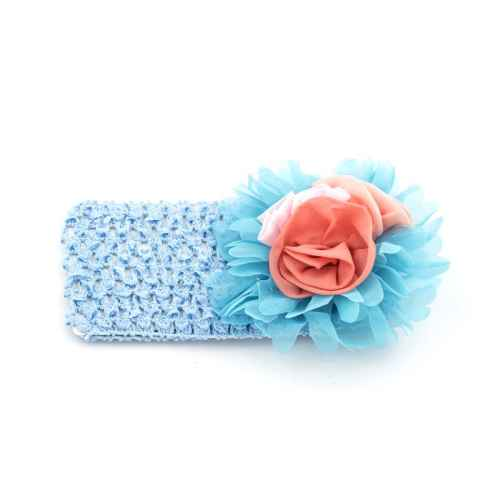 Blue hair band with flowers for Kids