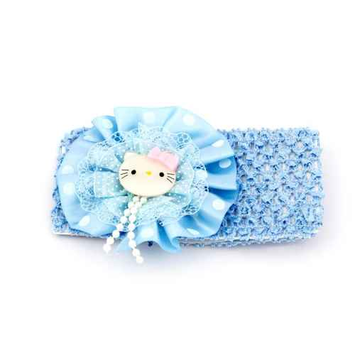 Blue Lace Hello Kitty Head band for Kids