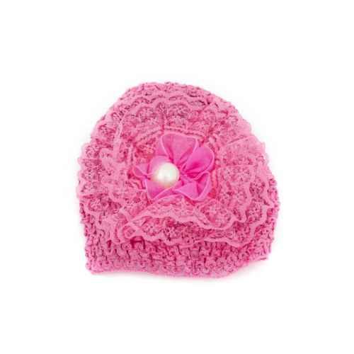 Big Pink pearl knit Cap