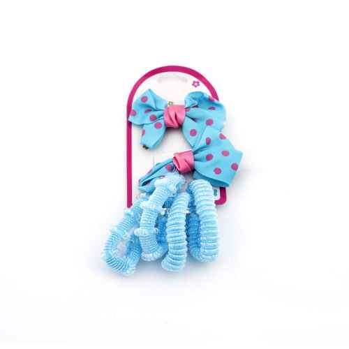 Hair Clips and Rubber Band Set for Kids