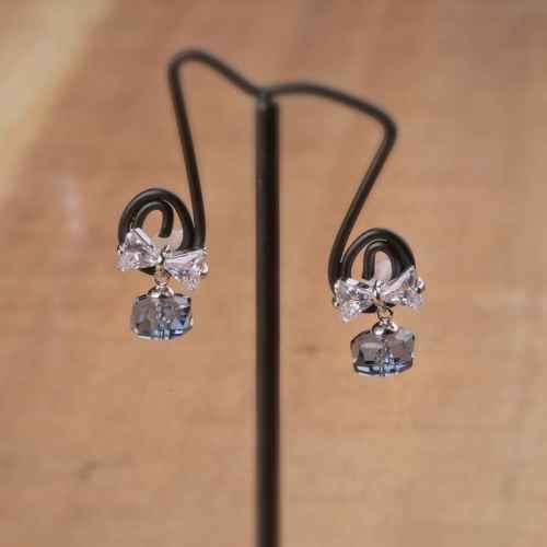 Deep Blue Swarovski Crystal Earrings