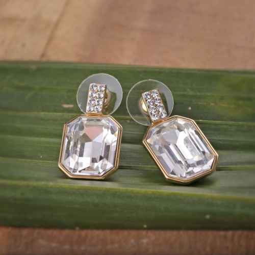 Big Clear Swarovski Crystal Earrings