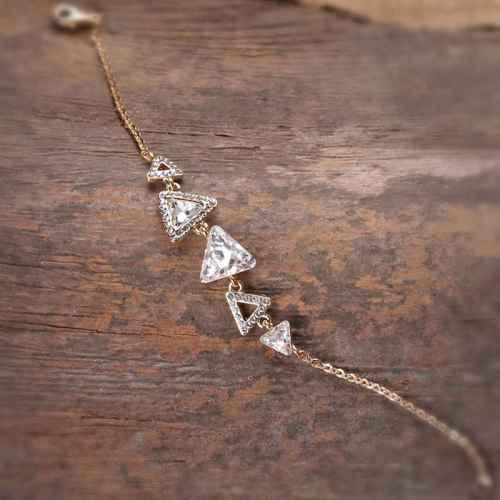 Tri-Triangle Swarovski crystal bracelet