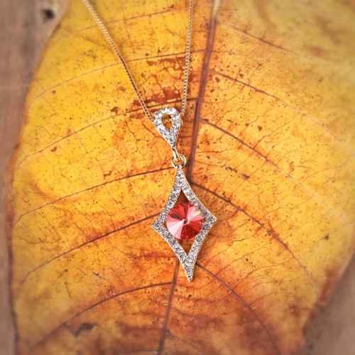 Ruby in Diamonds Swarovski Crystal Pendant