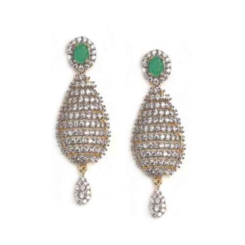 Gold Plated American Diamond Earrings