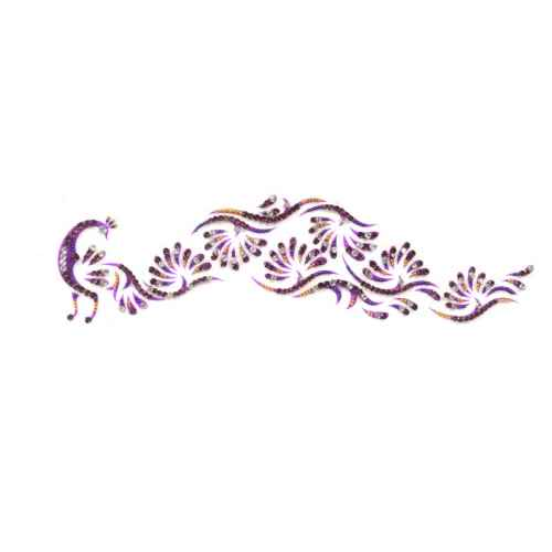 Gorgeous Purple Peacock shaped Arm tattoo