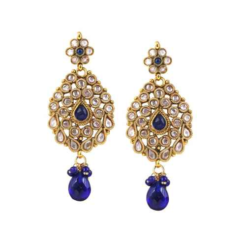 Traditional Kundan Gold Plated Antique Earrings