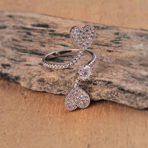 Hearts Apart  Silver Ring