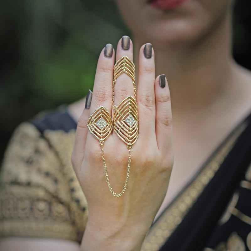 net two finger ring