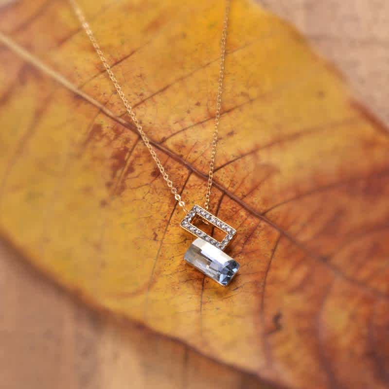 Gold & Grey Pendant made with Elements from Swarovski
