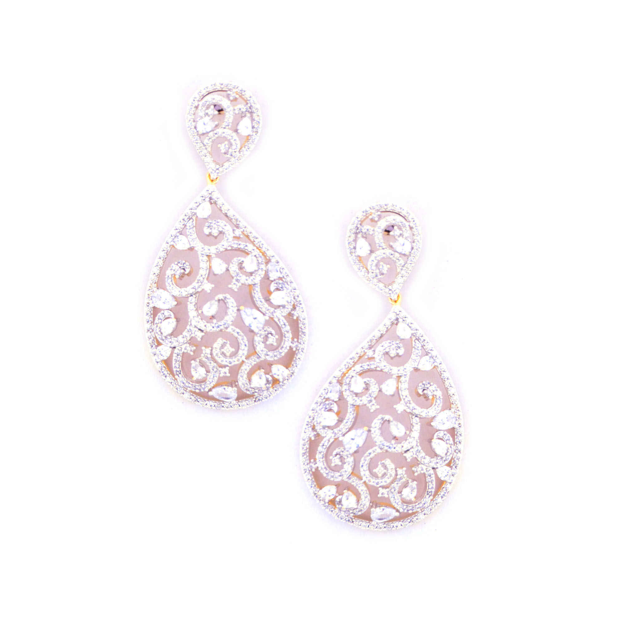one plated jhumka american gold step earrings gram diamond stylish elegant three