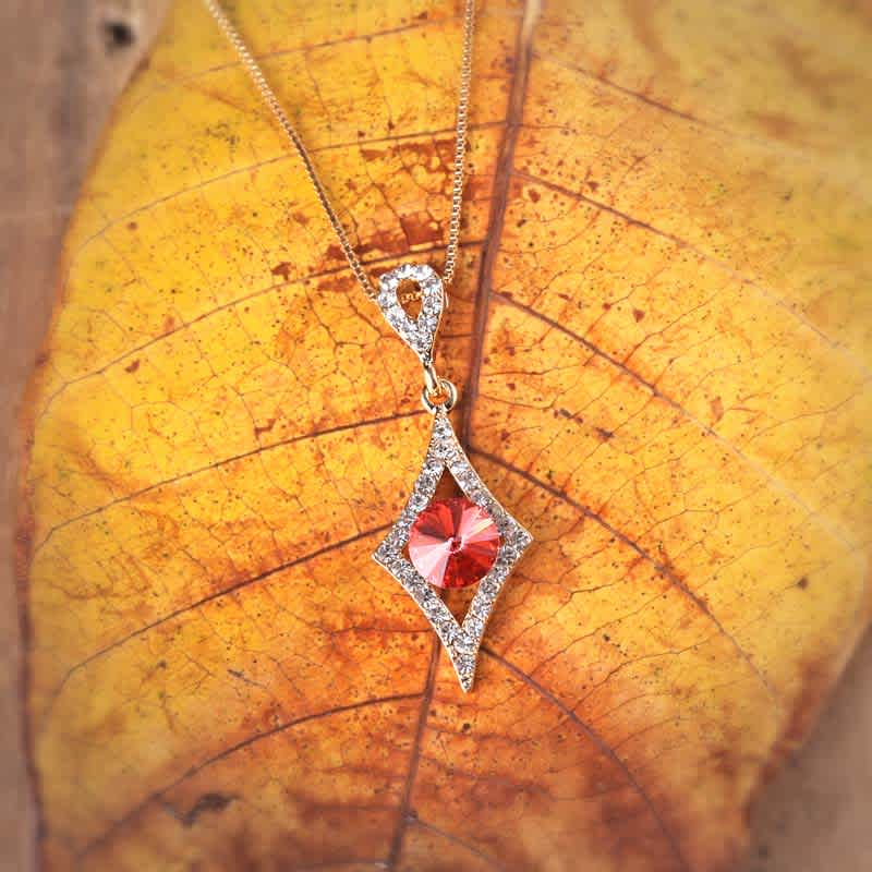 Ruby in Diamonds Swarovski Crystal Pendant