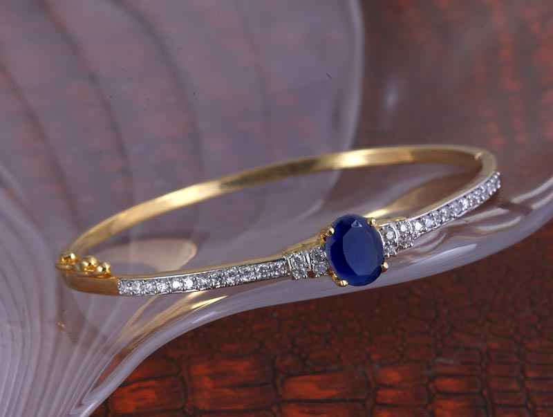 Gold Plated Classy Pink American Diamond Bracelet