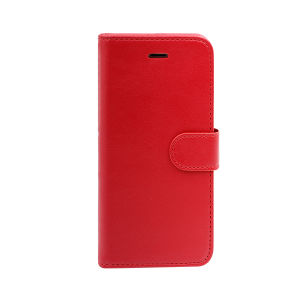 For iPhone 6 wallet case real leather case red