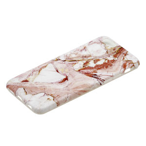 For iPhone 6/6S IMD Marble Case Red