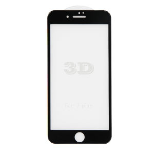 For iPhone 7 Plus 3D Full Cover Tempered Glass Screen Protector Black