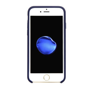 For iPhone 6 / 6S Silicone Plain Matte Case Midnight Blue