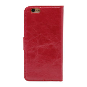 For iPhone 6 PU Leather Magnetic detachable Case Red