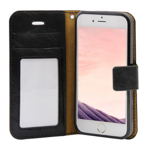 For iPhone 5/5S/5SE PU Leather Magnetic detachable Case Black