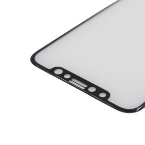 For iPhone X 3D 0.2mm Tempered Glass Screen Protector Black