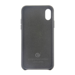 For iPhone X Genuine Leather Case Black