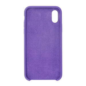 For iPhone X Silicon Case Violet