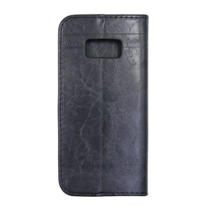 For Samsung S8 Plus SM-G955F Flower Pattern Clamshell Leather Black With Silicone Inner Shell