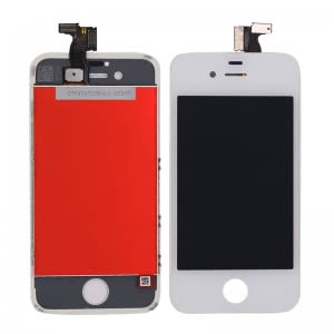 For iPhone 4 LCD White OEM