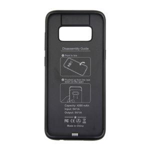 For Samsung S8 Battery Case Matt Black