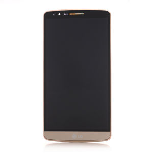 ForLG G3 D855 LCD Display Gold  with frame