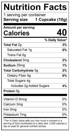 Ingredients Nutrition Facts Baked By Melissa