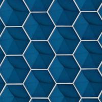 "Hedron 5"" x 4"" Wall Tile in Electric Blue"