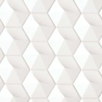 "Hedron 5"" x 4"" Wall Tile in White"