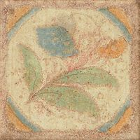 "Cotto Nature 3"" x 3"" x 3/8"" Trim in Decos-  Hand  Painted"