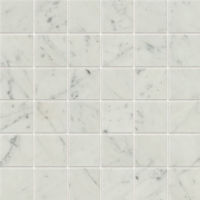 "Classic 2.0 2"" x 2"" Floor and Wall Mosaic in Bianco Carrara"