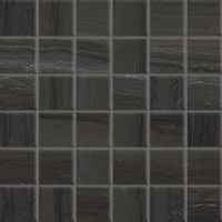 "Highland 2"" x 2"" Floor and Wall Mosaic in Black"